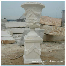 Large Size White Marble Flower PLanter